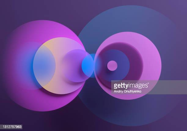 abstract overlapping semi transparent circles - science and technology stock pictures, royalty-free photos & images