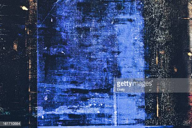 Abstract painted   black and blue  art backgrounds.