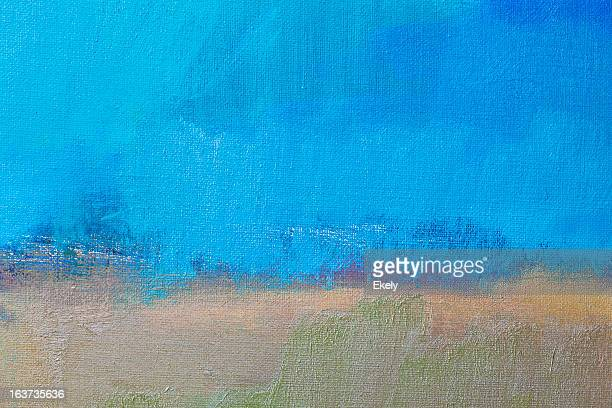Abstract painted blue and beige art backgrounds