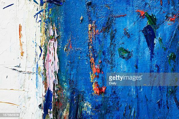 Azul abstrato Arte pintada de fundo.