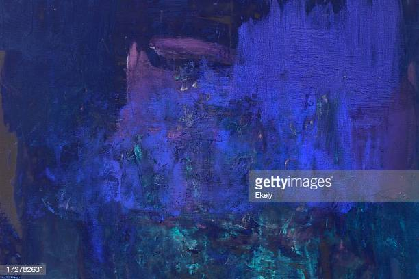 abstract painted  blue art backgrounds. - extreme close up stock pictures, royalty-free photos & images