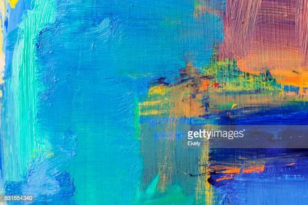 Abstrakte blauen grünen und gelben art-Hintergrund.