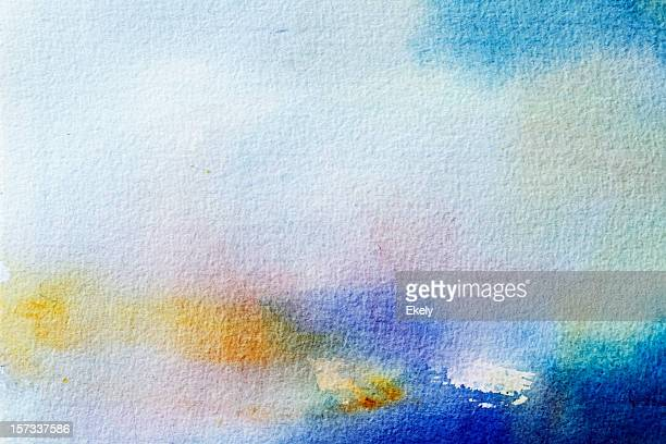 Abstract painted grayed out blue art backgrounds.