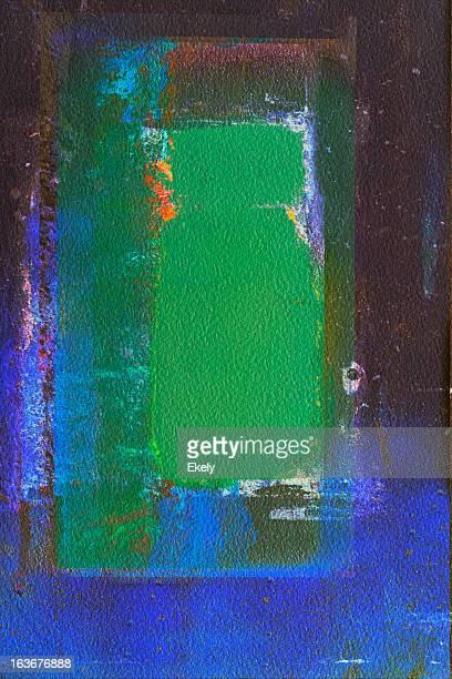 Abstracto arte pintado verde y azul fondos.