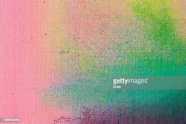 Abstrakt Gemalte Grün und Lila art Hintergründe.