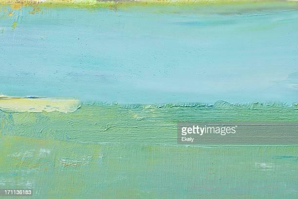 Pintura de Arte abstracto verde fondos.