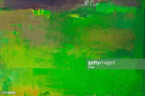 Verde abstrato Arte pintada de fundo.