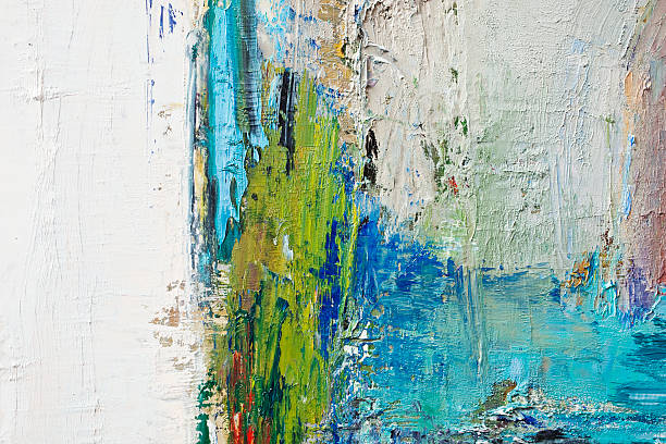 Abstract green and blue art backgrounds.
