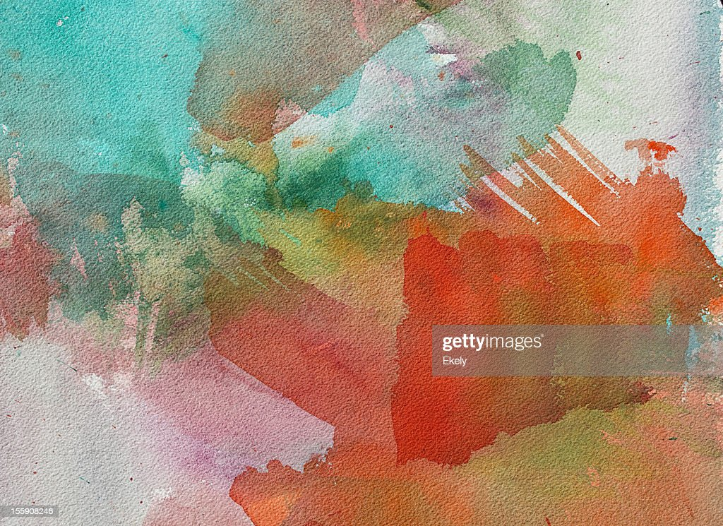 Abstract painted red and green art backgrounds. : Stock Photo