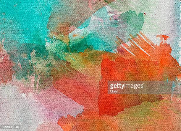 abstract painted red and green art backgrounds. - colour block stock pictures, royalty-free photos & images