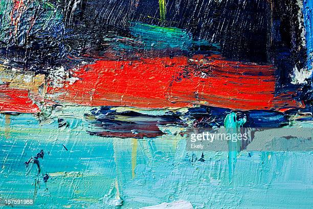Abstract painted red and green art backgrounds.
