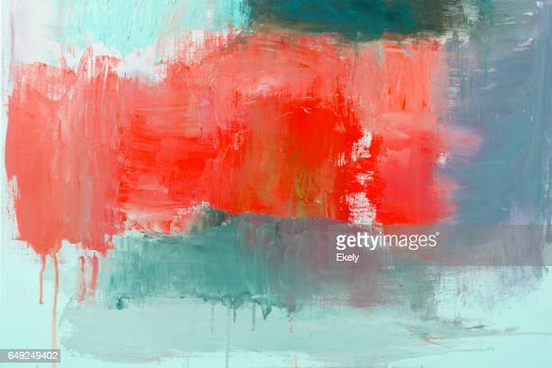 abstract painted red and green art backgrounds - dipinto foto e immagini stock