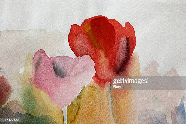Abstrakte Rote und Rosa art Hintergründe.