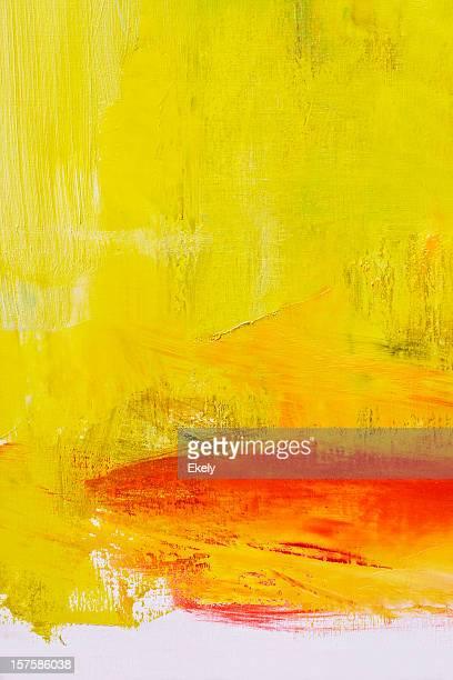 レッドの抽象絵画のアート背景。