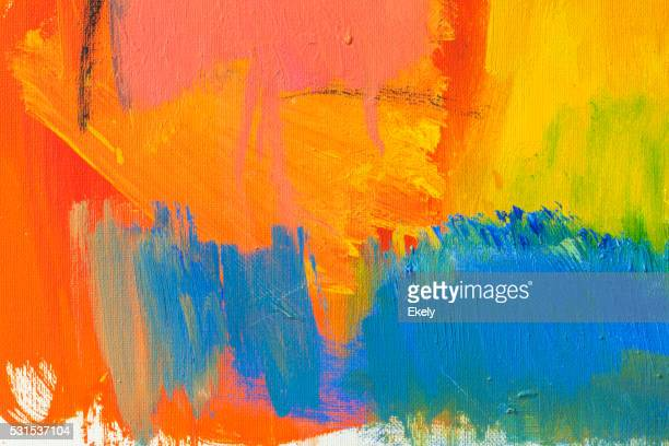 Abstract painted red green and blue art backgrounds.