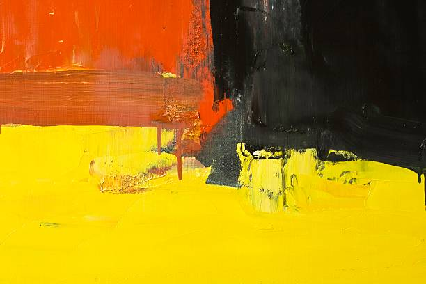 Abstract red, yellow and black art backgrounds.