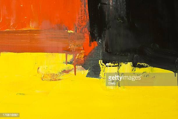 Abstract painted red, yellow and black art backgrounds.