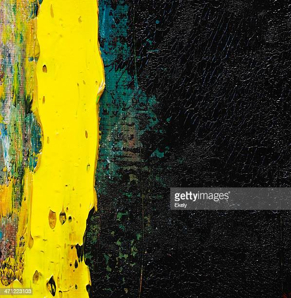 Abstract painted yellow and black art backgrounds.