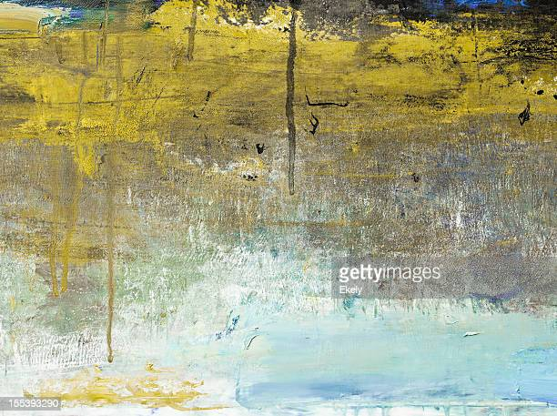 Abstract painted yellow  and bluegrayed out art backgrounds.