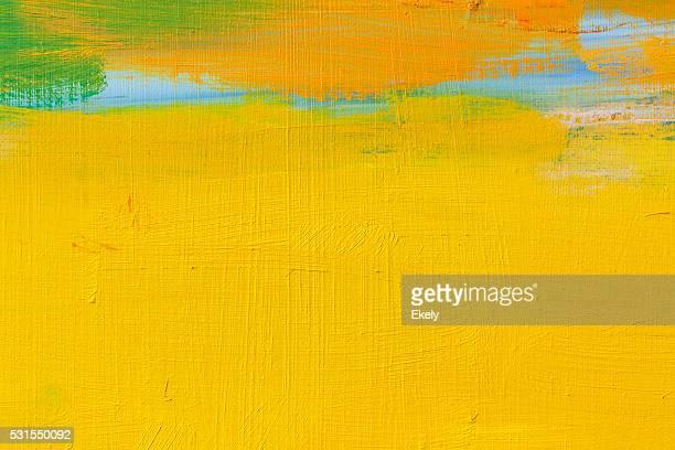 Abstrakt Gemalte Gelb und orange art Hintergründe.