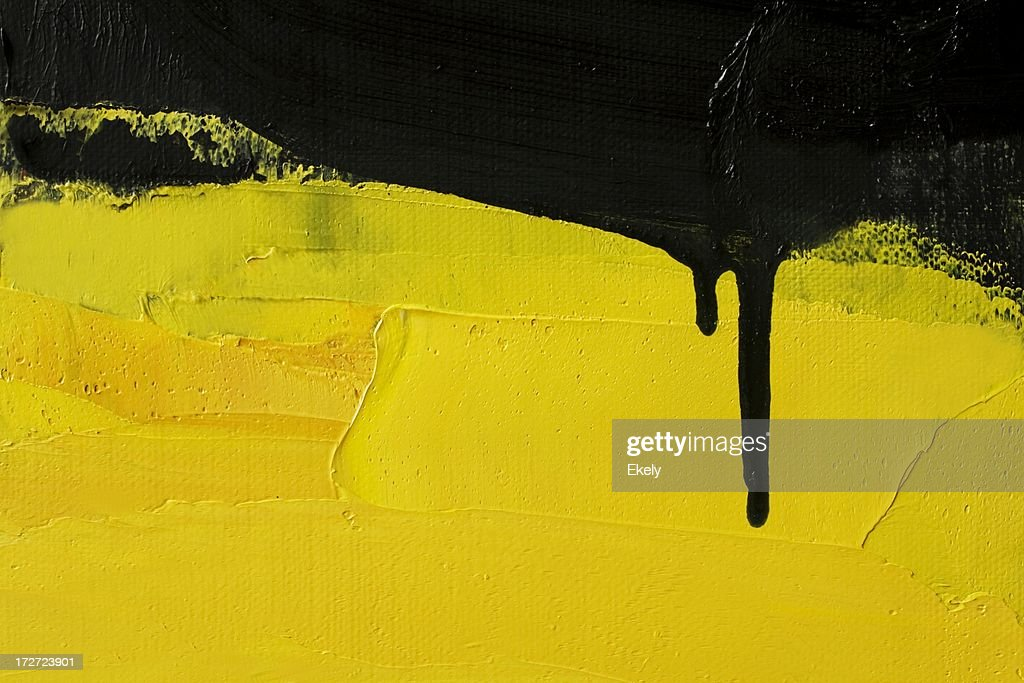 Abstract painted yellow art backgrounds. : Stock Photo