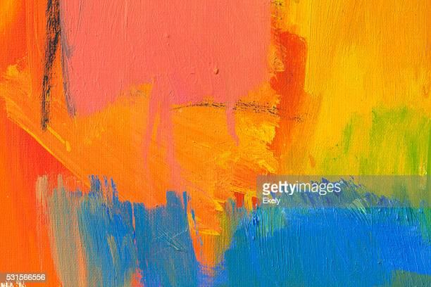 Abstrakt Gemalte Gelb, Grün und Blau art Hintergründe.