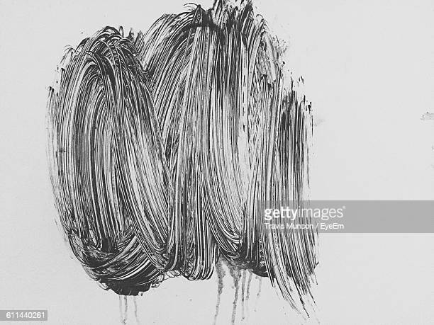 Abstract Painting Over White Background