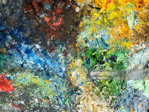 Abstract painting palette