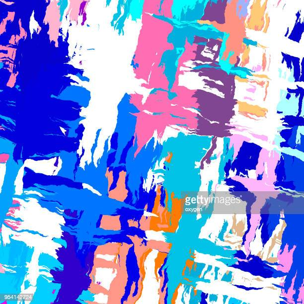 Abstract painting template