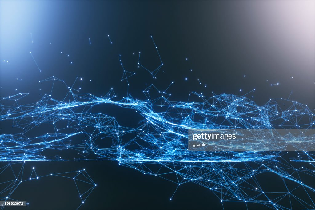 Abstract particle background : Stock Photo