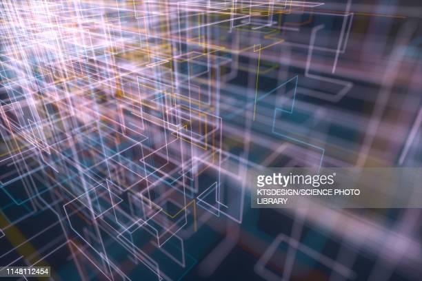 abstract pattern, illustration - cloud computing stock pictures, royalty-free photos & images