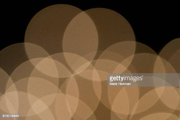 Abstract Pattern of blurred or defocused Christmas Lights