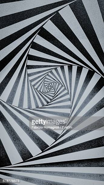 abstract pattern on floor - optical illusion stock photos and pictures