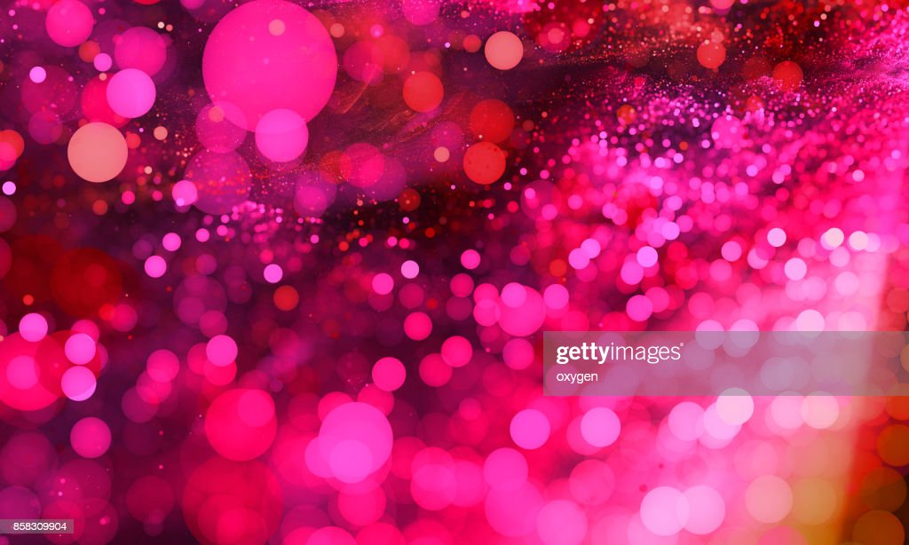 Abstract pink bokeh sparkling spray circle : Stock Photo