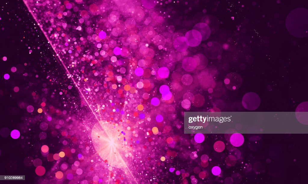 Abstract pink spotted bokeh background : Stock Photo