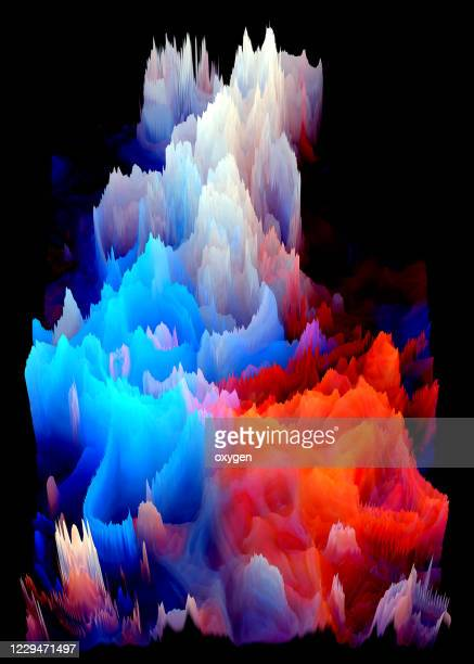 abstract polygonal background dynamic water fire effect futuristic technology style - infographics stock pictures, royalty-free photos & images