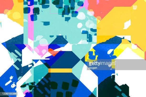 abstract polygonal geometric multicolored pattern background - miglioramento digitale foto e immagini stock