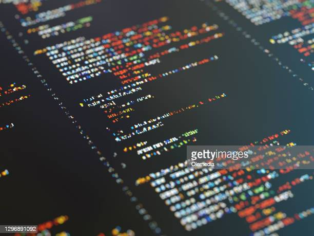 abstract program code on the digital display - coding stock pictures, royalty-free photos & images