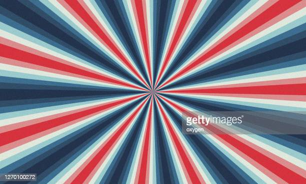 abstract radial blue red white speed lines background - shiny stock pictures, royalty-free photos & images