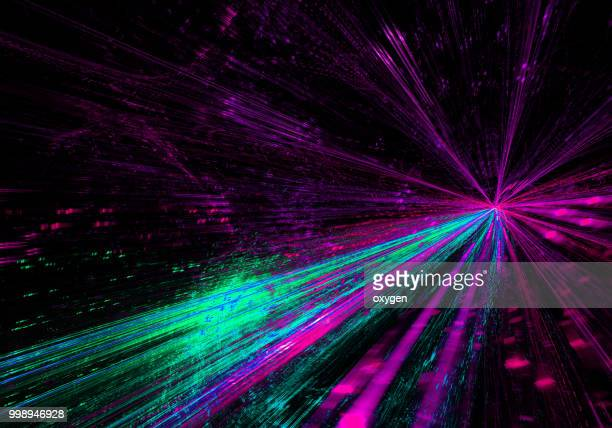 abstract radial light background - digital distortion stock photos and pictures