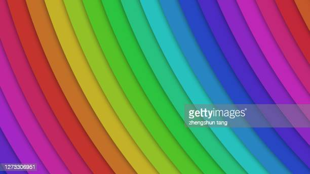 abstract rainbow shape - rippled stock pictures, royalty-free photos & images