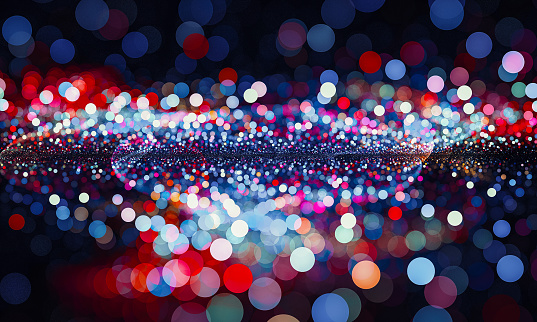 Abstract red and blue bokeh sparkling spray circle - gettyimageskorea