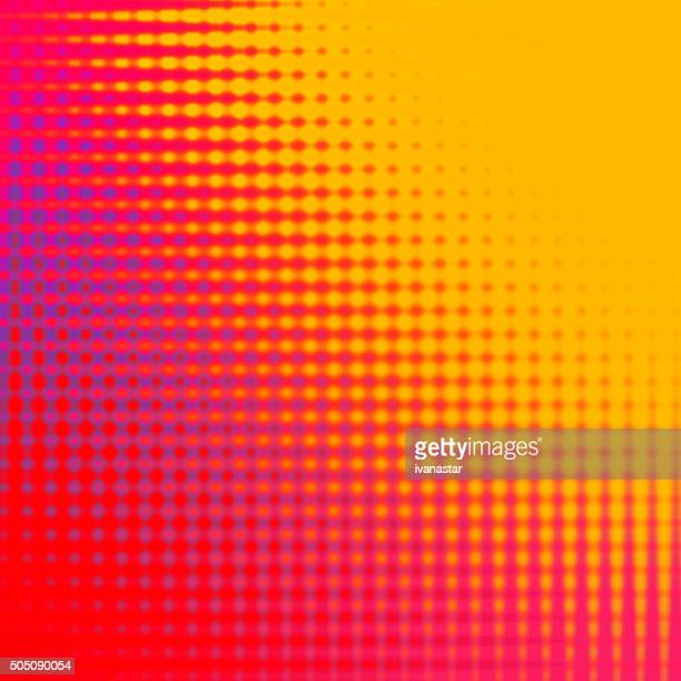 Abstract Red and Yellow Halftone Background