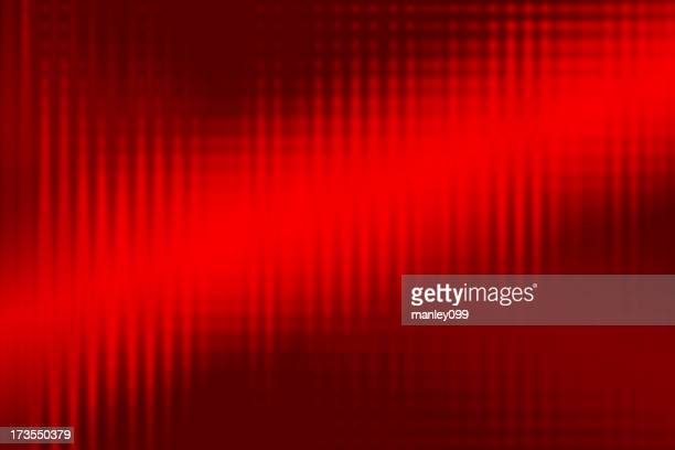 abstract red background soundwave