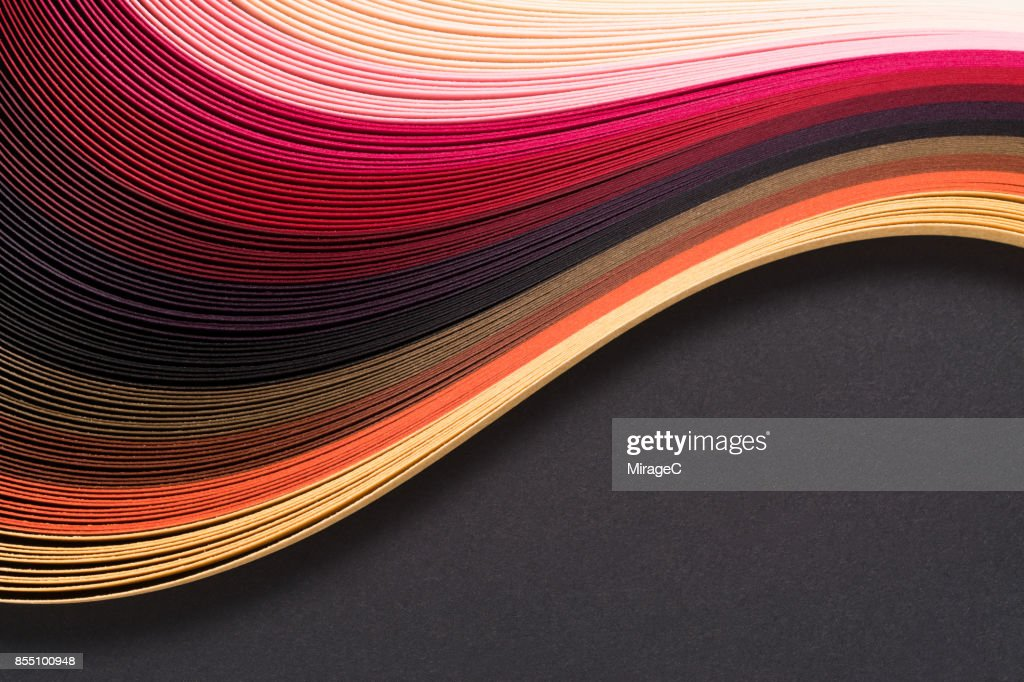 Abstract Red Paper Pile : Stock Photo