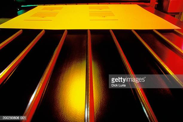 abstract - red yellow, printing press
