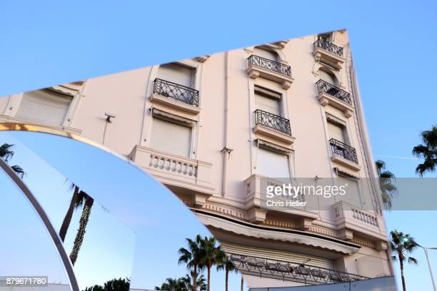 Abstract Reflections of Art Deco Architecture on the Croisette, Cannes