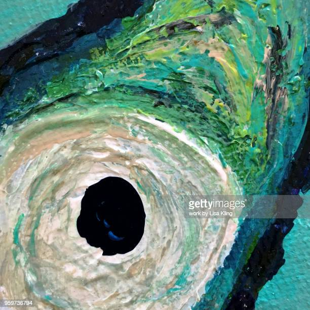 Abstract rendering of the eye of a hurricane