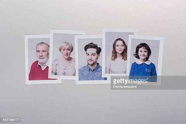 abstract representation of family - five people stock pictures, royalty-free photos & images