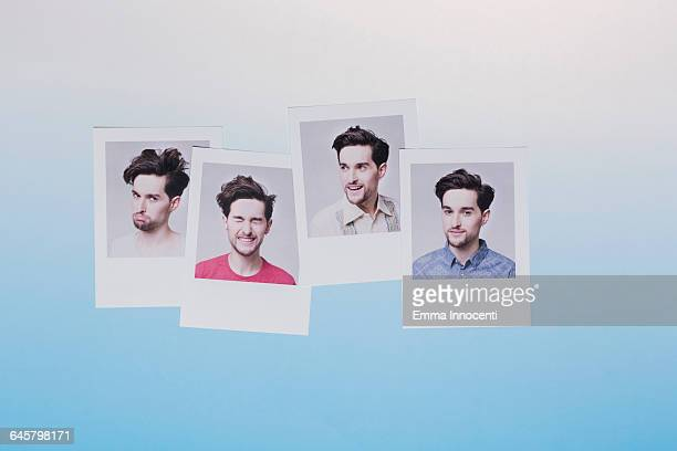 Abstract representation of man in different moods